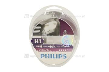 ŻARÓWKA 12V  H1  55W +60% VISIONPLUS P14,5S /KPL-2SZT/ PHILIPS 12258VP