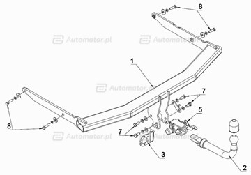HAK HOLOWNICZY AUTO-HAK MAZDA 3 SPORT ACTIVE 03- 3/5 DRZWI M52 AUTOMAT