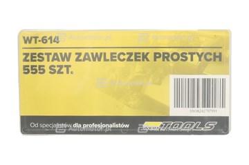 WERTTOOLS WT-614 ZESTAW ZAWLECZEK PROSTYCH 555 SZT. MIX