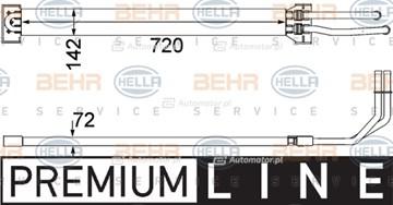 Chłodnica oleju, układ kierowania MAHLE/HELLA 8MO 376 756-371