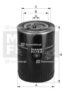 Filtr oleju MANN-FILTER W 950/38