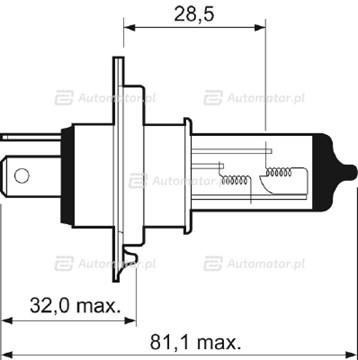 Żarówka reflektora dalekosiężnego VALEO 032007