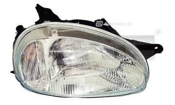 Reflektor świateł przednich TYC 20-3204-85-2