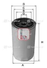 Filtr oleju SOFIMA S 3591 R