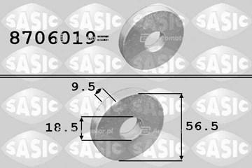 Podkładka, koło pasowe - wał korbowy SASIC 8706019