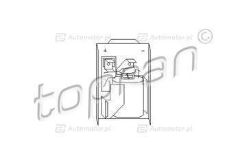 Opornik, wentylator wewnętrzny TOPRAN 102 973