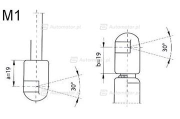 Sprężyna gazowa pokrywy bagażnika FA KROSNO 21716
