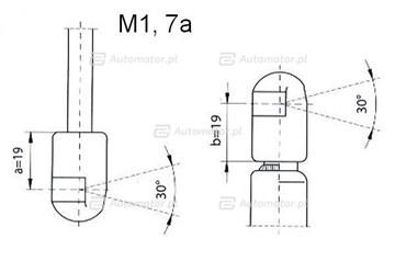Sprężyna gazowa pokrywy bagażnika FA KROSNO 21980