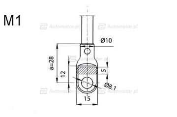 Sprężyna gazowa pokrywy silnika FA KROSNO 23350
