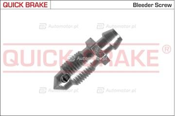 Śruba / zawór odpowietrznika, zacisk hamulcowy QUICK BRAKE 0016