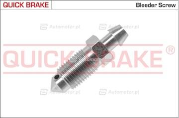 Śruba / zawór odpowietrznika, zacisk hamulcowy QUICK BRAKE 0017