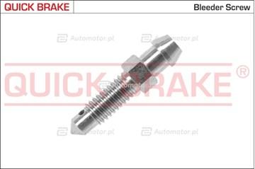 Śruba / zawór odpowietrznika, cylinderek hamulcowy QUICK BRAKE 0033
