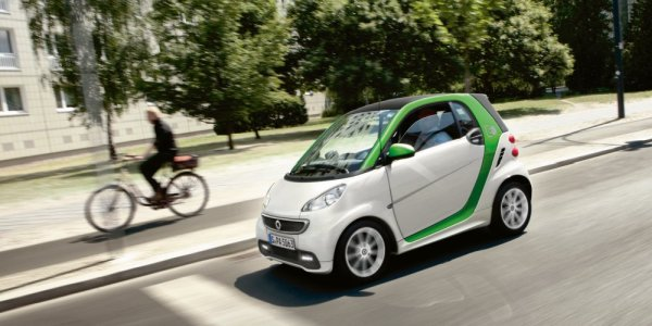 Zielony Smart Fortwo coupe Electric