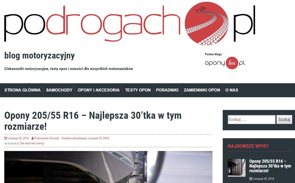 screen bloga motoryzacyjnego