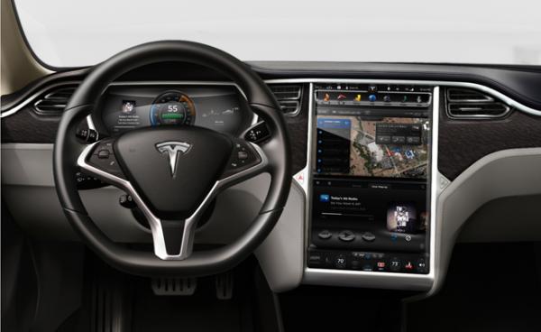 Deska rozdzielcza Tesla S