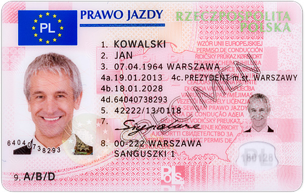 prawo jazdy - dokument