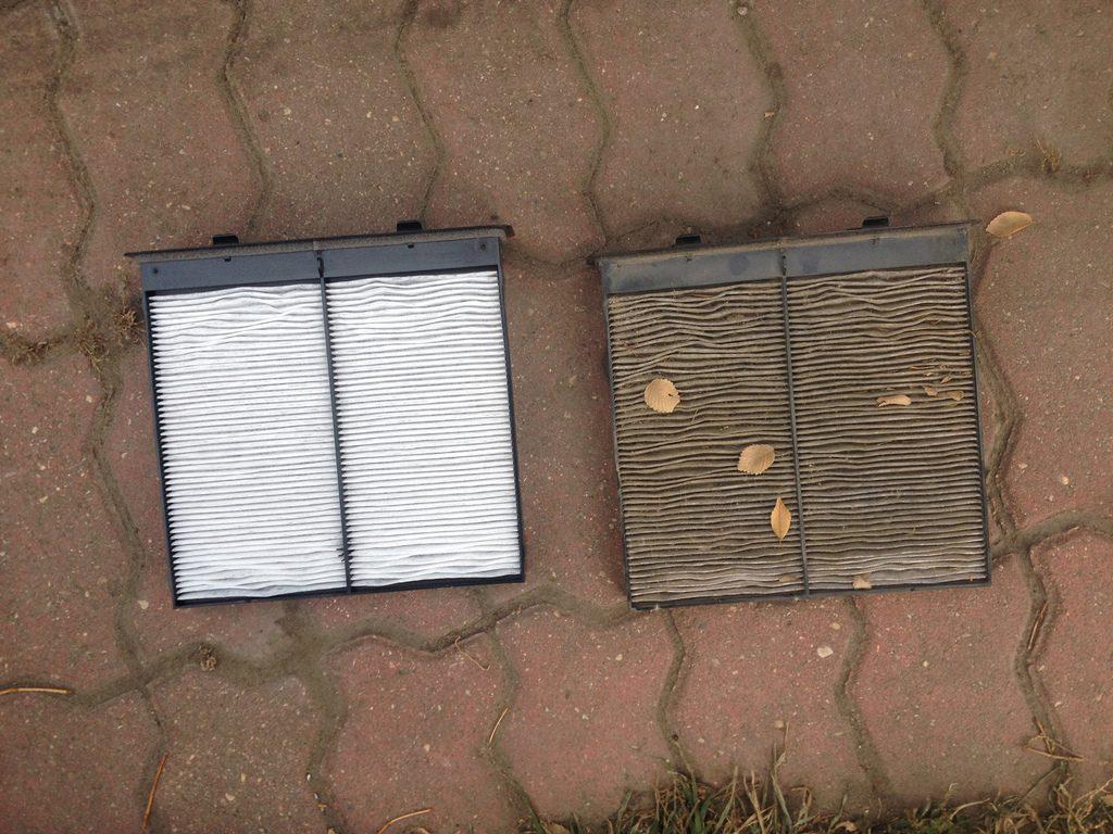 filtry kabinowe nowy i stary