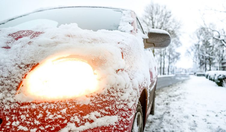 samochod zima