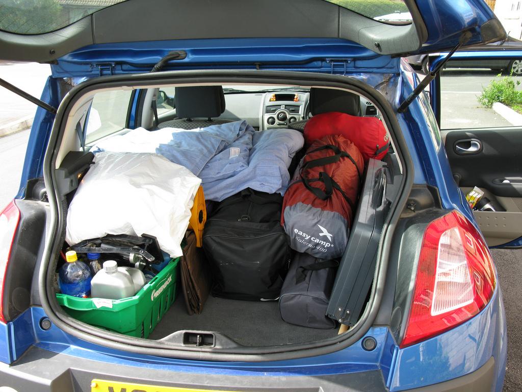 bagaże w samochodzie